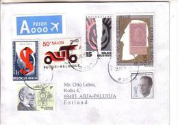 GOOD BELGIUM Postal Cover To ESTONIA  2015 - Good Stamped: King ; Car ; Antiracism ; Stamp On Stamp - Belgium