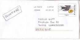 GOOD FRANCE Postal Cover To ESTONIA  2015 - Postage Paid - Frankrijk