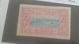 LOT 250351 TIMBRE DE COLONIE COTE DE SOMALIS NEUF* N�12 VALEUR 37 EUROS
