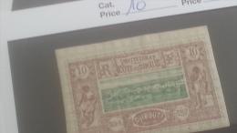 LOT 250354 TIMBRE DE COLONIE COTE DE SOMALIS NEUF* N�10 VALEUR 25 EUROS