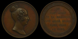 M01866 LOUISE MARIE D'ORLEANS - REINE  DES BELGES - 1812-1850 Son Profil (46.2g) Le Bon Ange De La Belgique... Au Revers - Royaux / De Noblesse
