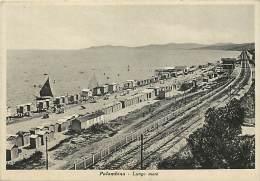 Italie -gd Format Div- Ref - N460 -  Palombina - Lungo Mare - Ligne De Chemin De Fer -  Carte Bon Etat - - Unclassified
