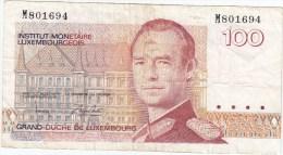 Billet De 100 Francs  GRAND-DUCHE DE LUXEMBOURG - Luxembourg