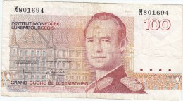 Billet De 100 Francs  GRAND-DUCHE DE LUXEMBOURG - Luxemburgo