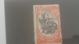LOT 250368 TIMBRE DE COLONIE COTE DE SOMALIS NEUF* N�52 VALEUR 32 EUROS