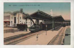 ORAN - Intérieur De La Gare - Carte Colorisée - Oran