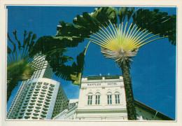 SINGAPORE:  IL CELEBRE HOTEL RAFFLES       (NUOVA CON DESCRIZIONE DEL SITO SUL RETRO) - Singapore