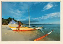FILIPPINE: SICOGON:  DARCA SULLA SPIAGGIA      (NUOVA CON DESCRIZIONE DEL SITO SUL RETRO) - Filippine