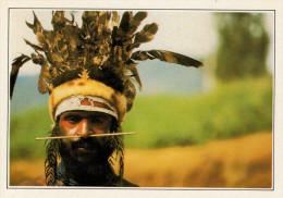 GUERRIERO  PAPUANO DI WABAG       (NUOVA CON DESCRIZIONE DEL SITO SUL RETRO) - Papua Nuova Guinea