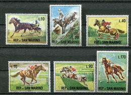 St Marin ** N° 660 à 665 (ref. Michel Au Dos) - Sports équestres - - Unused Stamps