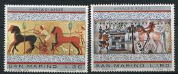 (cl.18 - P12)  St Marin ** N° 888/889 (ref. Michel Au Dos) - Art étrusque. Course De Chars, Achille Et Troilus - - San Marino