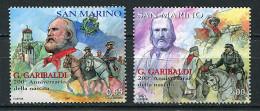 (cl.18 - P12)  St Marin ** N° 2085 - 2087 (ref. Michel Au Dos) - Giuseppe Garibaldi, Homme Politique (portraits, Chevaux - Saint-Marin