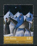 (cl.18 - P12)  St Marin ** N° 2118 (ref. Michel Au Dos) - Noël. Marie Et L'Enfant Jésus Sur Un âne - - Saint-Marin