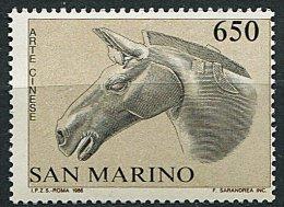 (cl.18 - P12)  St Marin ** Tbre Du Bloc N° 13 (ref. Michel Au Dos) - Relations Diplomatiques Avec La Chine (Cheval)- - Saint-Marin