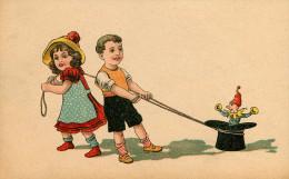 Enfants - Dessins D´enfants - Fillettes - Fillette - Garçon - Chapeau - Lutins - Lutin - état - Dessins D'enfants