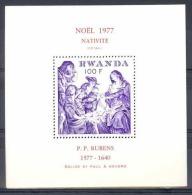 Rwanda - BL79 (850) - Rubens - 1977 - MNH