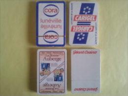4 jeux de 32 cartes. Jeux neufs sous blister. Cora. Carigel. La bonne Auberge. G�ant Casino