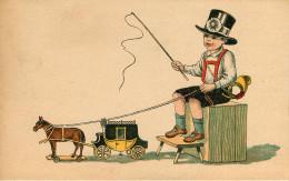 Enfants - Dessins D´enfants - Jouets - Chevaux - Garçon - Chapeau - état - Dessins D'enfants