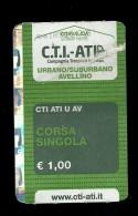 Biglietto Autobus Italia - Unico C.T.I.-ATI Urbano-Suburbano da 1.00 euro