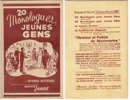 RECUEIL De 20 MONOLOGUES .Pour Jeunes Gens.Editions Marcel Labbè - Bücher, Zeitschriften, Comics