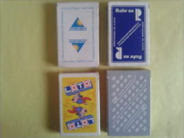 4 jeux de 32 cartes. Jeux neufs dans un �tui carton. Pr�voir. Rohr S.A. Loto. Cr�dit Agricole.