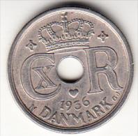 DINAMARCA 1936.CHRISTIAN X . 25 ORE. EBC VER FOTO   CN4230 - Dinamarca