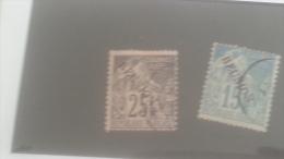 LOT 250507 TIMBRE DE COLONIE REUNION OBLITERE N�22/23 VALEUR 15 EUROS