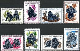 Rwanda - 370/377 - Gorilles - 1970 - MNH