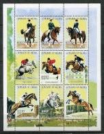 (cl.18 - P18) Sénégal ** N° 1401 à 1409 En Petite Feuille (ref. Michel Au Dos) -  Sports équestres - - Senegal (1960-...)