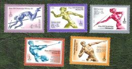 RUSSIE - YT   N°4675 à 4679 - Jeux Olympiques De Moscou / Sports - 1980 - Neufs - Ungebraucht
