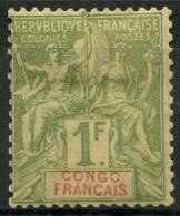 Congo (1892) N 24 * (charniere)