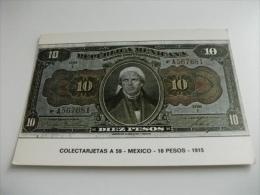 BANCONOTA RIPRODUZIONE REPUBBLICA MEXICANA 10 PESOS MEXICO 1915