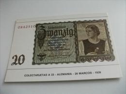 BANCONOTA RIPRODUZIONE GERMANIA 20 MARCHI 1939  ALEMANIA - Monete (rappresentazioni)