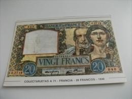 BANCONOTA RIPRODUZIONE FRANCIA  20 FRANCHI 1940