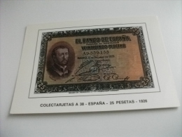 BANCONOTA RIPRODUZIONE SPAGNA 25 PESETAS 1926 - Monete (rappresentazioni)