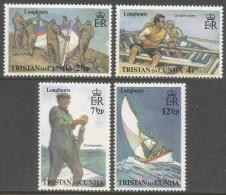 Tristan Da Cunha. 1972 Tristan Longboats. MH Complete Set SG 170-173 - Tristan Da Cunha