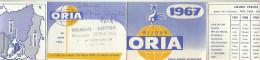 CALENDRIER DE POCHE 1967 BIJOUX ORIA. - Calendriers