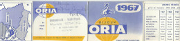 CALENDRIER DE POCHE 1967 BIJOUX ORIA. - Petit Format : 1961-70