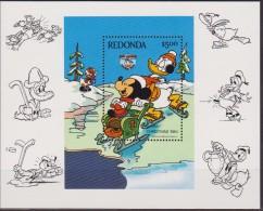 REDONDA  - DISNEY CHRISTMAS 84' SHEET MNH FOGLIETTO NUOVO - Disney