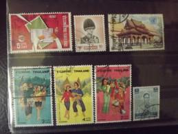 Lot N°1337 Lot De 7 Timbres Oblitéré De Thailande - Timbres