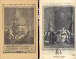 Les Maitres De L´Estampe Au XVIII Siecle   2 Postales - Malerei & Gemälde
