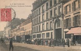 ( CPA PARIS 19 )  RUE DE FLANDRE  /  Raffinerie Lebaudy  - - Arrondissement: 19
