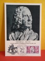 FDC- Carte Maxi, Fontenelle 1657/1757, Académie Des Sciences 1699/1739 - Paris - 4.6.1966 - 1er Jour, Coté 2 € - Cartes-Maximum