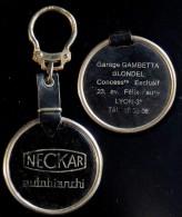 Ancien porte-cl� NECKAR / Autobianchi - concession de Lyon / ann�es 60