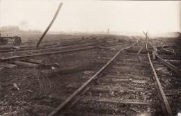 CP Photo Septembre 1918 Minage Des Voies Ferrées Sur La Ligne Lens-Libercourt  (A99, Ww1, Wk1) - France