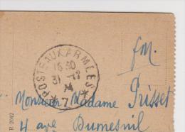 CACHET POSTE AUX ARMÉES 31 DÉCEMBRE 1924 FRANCHISE MILITAIRE MAINZ NEUBRUNNENPLATZ ZOOM 3 SCANS - Poststempel (Briefe)