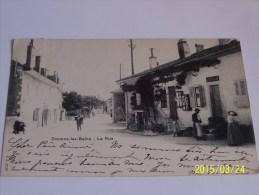 DIVONNE LES BAINS LA RUE CPA DOS NON DIVISE 1902 - Divonne Les Bains