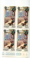 ITALIA 1981 Siena Palio   Quartina Nuova NEW TEMATICA Cavalli - 6. 1946-.. Repubblica