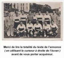 TOULOUSE-FOOTBALL-CLUB, 1937-1938. Photo Véritable Format Carte Postale. Joueurs Nommés. Voir Description Détaillée. - Football