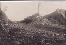 Photo Septembre 1918 DOURGES (près Hénin-Beaumont) - Les Ruines De La Gare (A99, Ww1, Wk1) - France